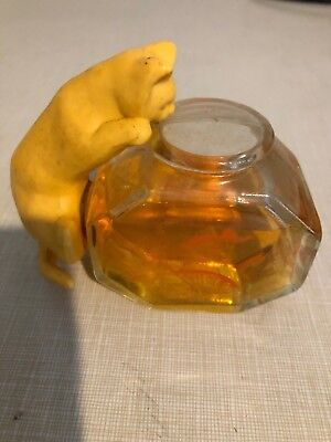 Vintage Avon Curious Kitty With Fishbowl Cologne Decanter 1970's