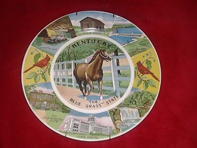 Vintage collector/souvenir plate of the State of Kentucky. Great colors.