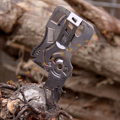 Multi Tool Credit Card Size Kit Functional Knife 6 in 1Knife Survival Camping