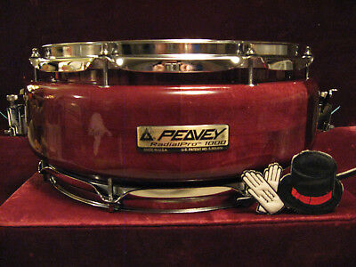 Rare PEAVEY RADIALPRO 1000 Exotic Visionary USA Designed/Crafted Snare Drum EXC!