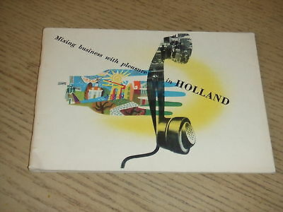 RARE 1951 OFFICIAL Mixing Business Pleasure in Holland Netherlands Tourist Book