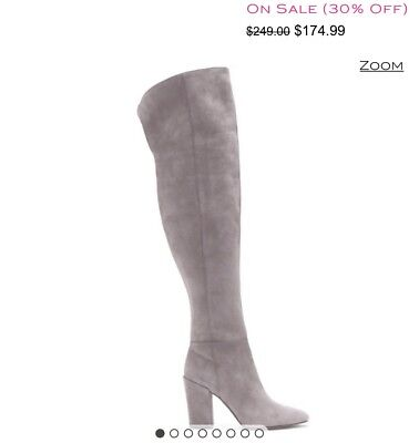 1e6a6b26d4f NEW IN BOX. Louise et Cie Vernon – Block-heel Gray Suede Boot 9M ...