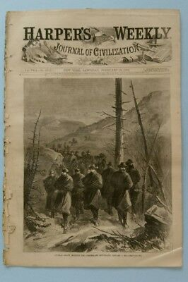 Harper's Weekly  2/20/1864  Grant Crossing the Cumberland  Colt's Armory