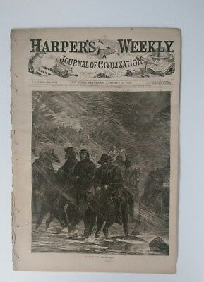 Harper's Weekly 1/16/1864 Averill's Raid   Advance of the Army of the Potomac