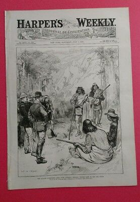 Harper's Weekly 7/7/1883 Apache Surrender by W.A. Rogers