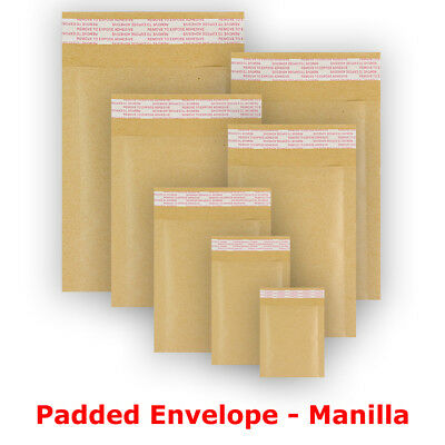 5 10 25 50 Bubble Padded Envelopes Bags Strong Peel&Seal - Fast&Free Delivery