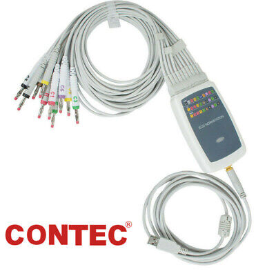 CONTEC8000G ECG/EKG machine Workstation 12 leads ECG System PC Software Analasis