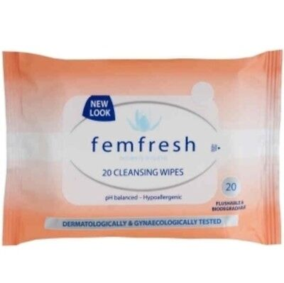 Femfresh Initimate Hygiene Wipes 20 cleansing wipes HYPOALLERGENIC