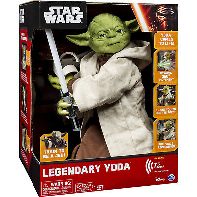 "NEW in BOX! Never Opened -ANIMATED LEGENDARY YODA JEDI MASTER 16"" - DISCONTINUED"