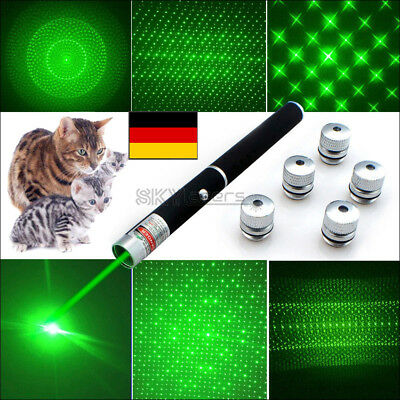 6in1 Military High Power  532nm Green Laser Pointer Visible Beam Light Lazer DE