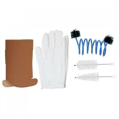 Trumpet Gloves+Cleaning Kits+Protective Cover Case Synthetic Leather 69G /2.43oz