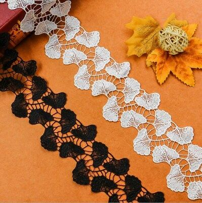 2 Yards Leaf petals Embroidery lace Decorative Sofa curtain household products