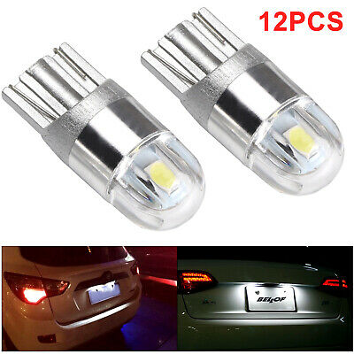 12x T10 Bulbs W5W 501 Canbus Lights LED COB SMD 3030 Bright White Car Error Free