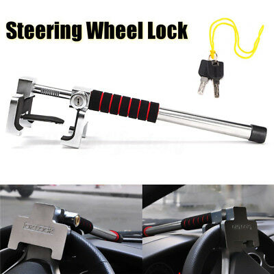 Steering Wheel Lock Anti Theft Security Car Truck SUV Auto Aluminum Alloy Steel