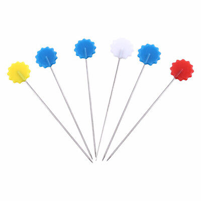 100pcs/set Patchwork Pins Flower Button Head Pins DIY Quilting Tool Sewing  Y7O8