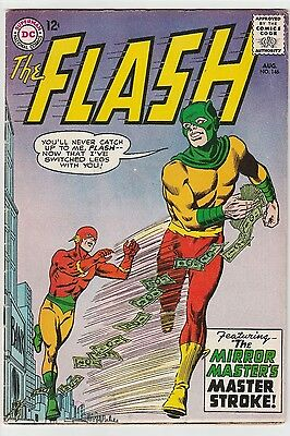US DC comic Silver Age; THE FLASH #146 CENTS COPY Graded FN to VFN
