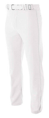 (3X-Large, White) - A4 Pro-Style Open Bottom Baseball Pant. Shipping Included