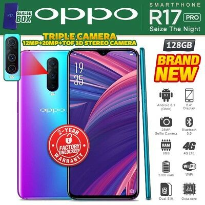 New & Sealed Factory Unlocked OPPO R17 Pro Radiant Mist 128GB Android Smartphone