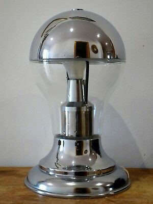 Lámpara de mesa vintage Space Age 1960s cromada chrome table lamp