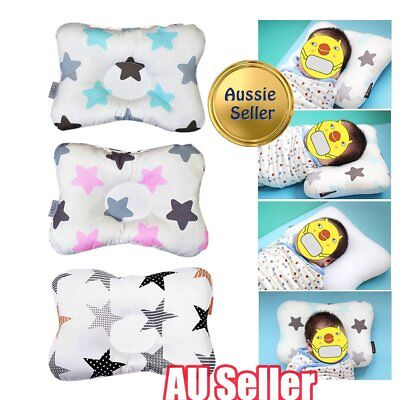 Baby Infant Newborn Prevent Flat Head Neck Support Positioner Square Pillow BO