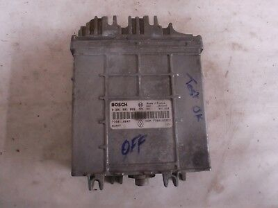 calculateur immo off  Bosch renault 1.9 DTI , 1 prise , 0281001809 / 7700110647