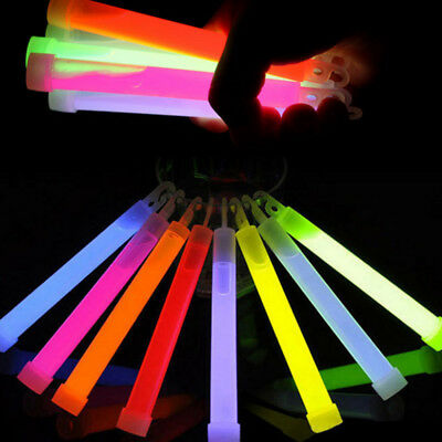 6 inch Glowing Stick Hook Chemical Light Outdoor Camp Emergency Party Decor Cute