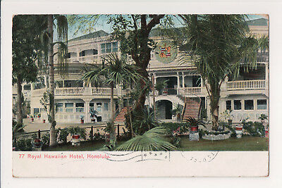 ANTIQUE RARE MAGNIFICENT 1st ROYAL HAWAIIAN HOTEL HONOLULU 1909 POSTCARD PMC