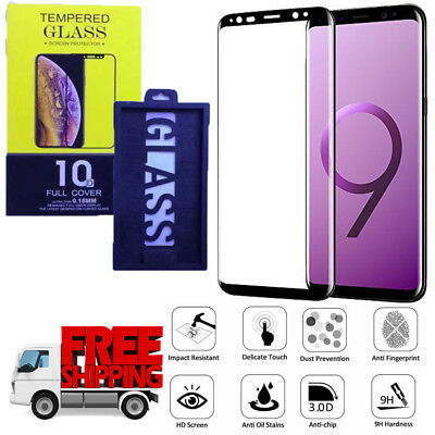 For Samsung Galaxy S9 5D Full Curved Tempered Glass LCD Screen Protector Black