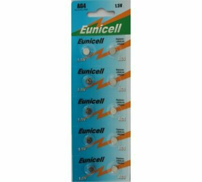 10 x Eunicell 1.5V AG4  Alkaline Button Coin Cell Battery Batteries RX5