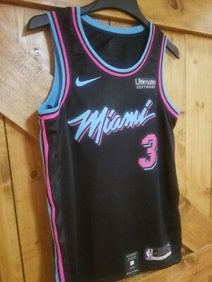 2d11ea8026e MIAMI HEAT  3 Dwyane Wade  NIKE Swingman Jersey    VICE CITY NIGHTS ...