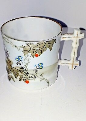 Asian Eggshell Porcelain Demi-Tasse Cup Delicate And Beautiful!