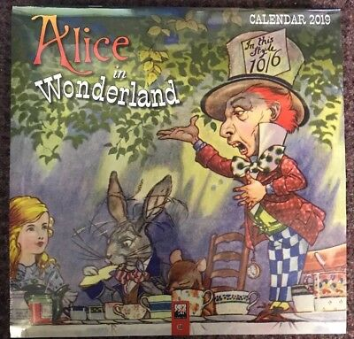Alice In Wonderland Wall Calendar 2019