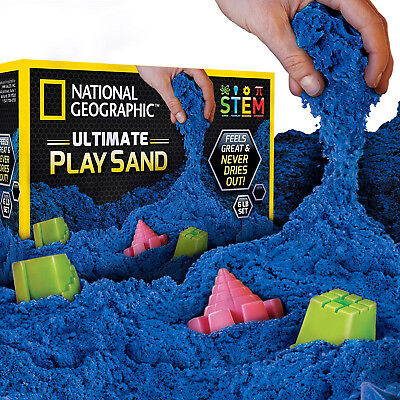 National Geographic Play Sand Sand Castle Molds A Kinetic Sensory Activity Blue