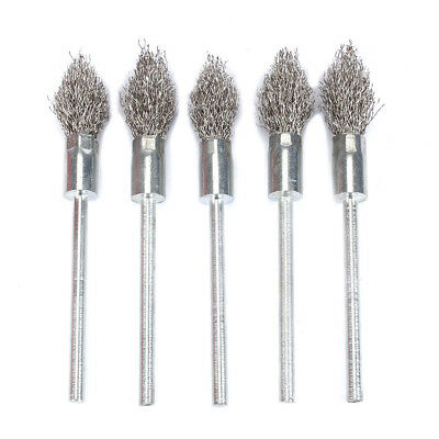 16mm Stainless Steel Wire Brush Polishing Extra Length Shank Paint Rust Removal