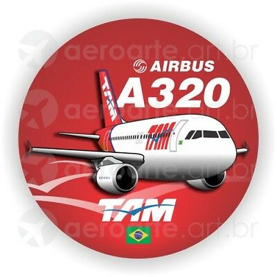 Airbus A320 American Airlines aircraft round sticker