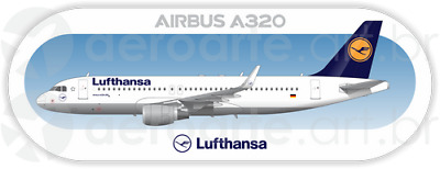 Airbus A320 Vueling aircraft profile sticker