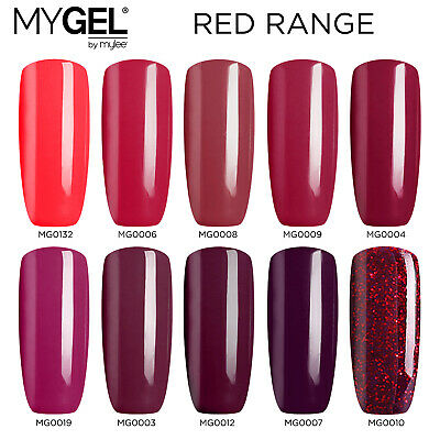 Mylee MYGEL Red Collection UV LED Soak-Off Gel Nail Polish Colour Manicure 10ml