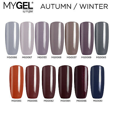 Mylee MYGEL Autumn Winter UV LED Soak-Off Gel Nail Polish Colour Manicure 10ml