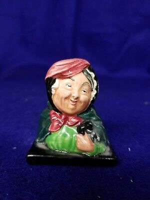 "Royal Doulton Character Figure ""Sairey Gamp"" 2 1/4 inches tall."