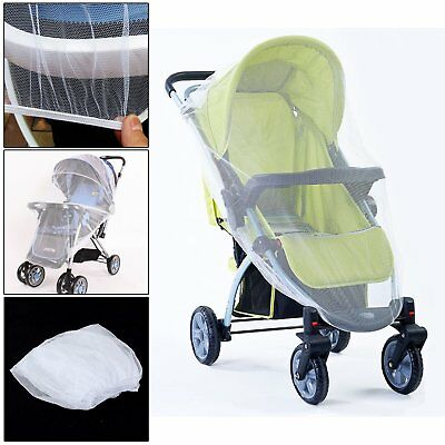 Baby Buggy Pushchair Stroller Pram Mosquito Cover Net Fly Insect Protector UK