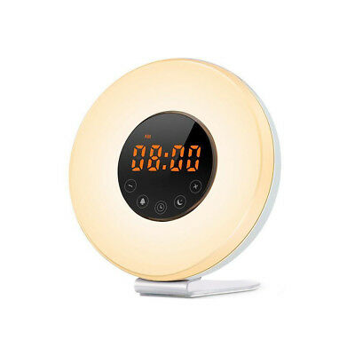 LED Wake up Light Lichtwecker mit UKW-Radio Wecker Stimungs-Licht-Wecker