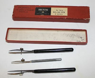 VTG Charles Bruning Co No. 1612 Ruling Pen with 3 inside box