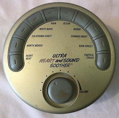 Sharper Image Design Ultra Heart and Sound Soother - 10 Relaxing Sounds