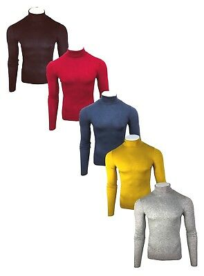 Men's Jaama Thermal High Collar Turtle Roll Polo Neck Viscose Winter Tops