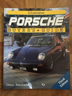 1990 ILLUSTRATED PORSCHE BUYERS GUIDE BOOK DEAN BATCHELOR - 3rd Edition