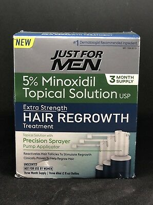 Just For Men Extra Strength Hair Regrowth Treatment 3 Months supply, EXP:10/19
