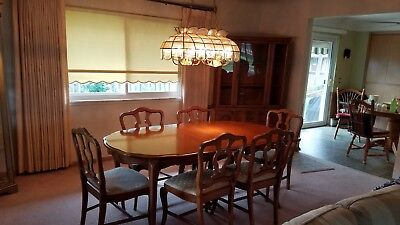 Vintage 60s French Provincial Dining Room Set - China Cabinet - and Buffet