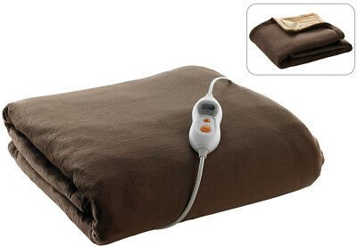 Electric Sofa Bed Plush Heater Blanket Couch Washable Throw Rug Fleece Warmer