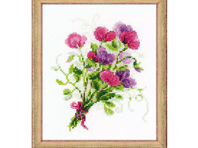 "Stickpackung Kreuzstich Counted Cross Stich Kit Вышивка CT14 ""Blumen#4"" 15x18cm"