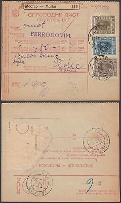 Yugoslavia 1926 - Delivery Note to Teslic..............(5G-27075) B8065